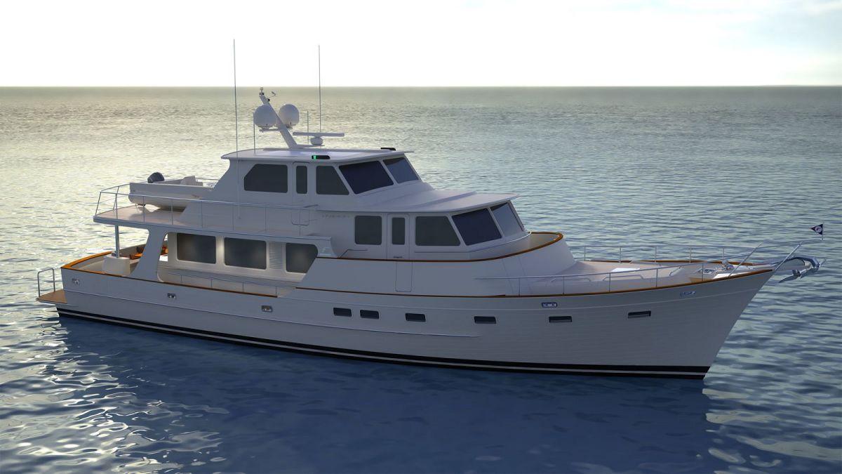 Fleming 85Enclosed Flybridge version