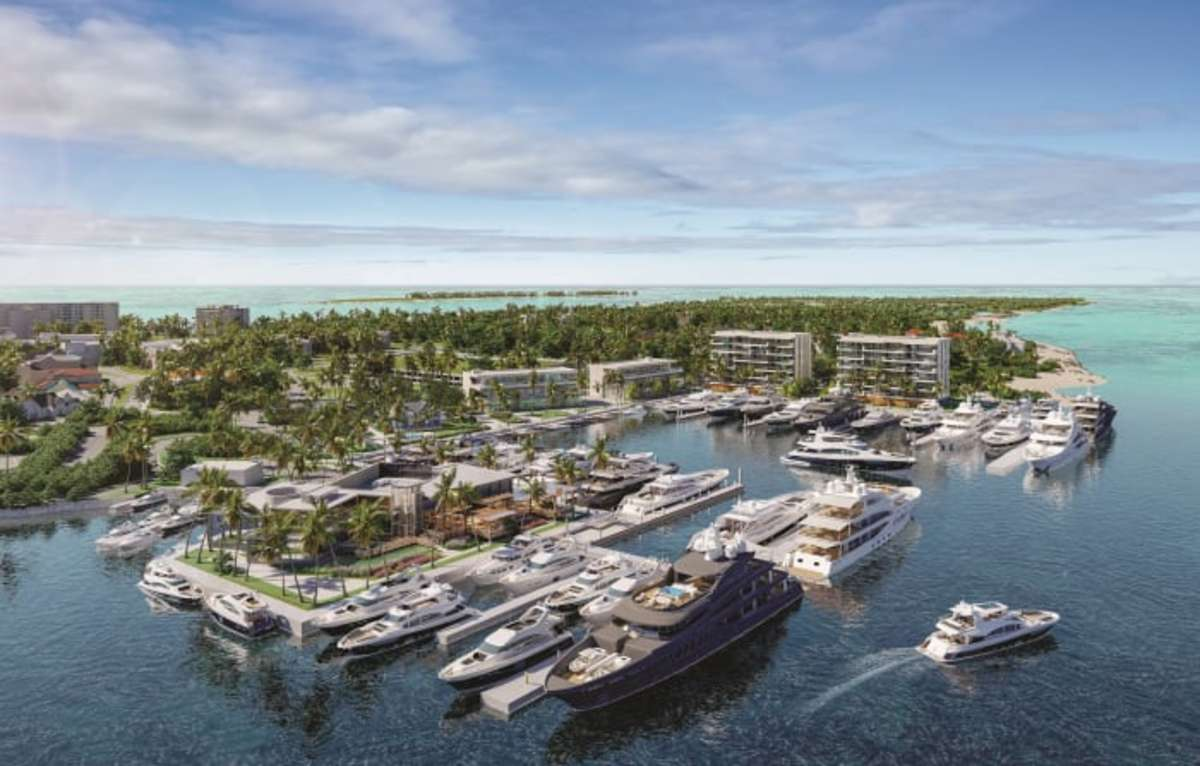 The redeveloped marina will include 6,100 feet of linear feet of dockage for yachts to 420 feet