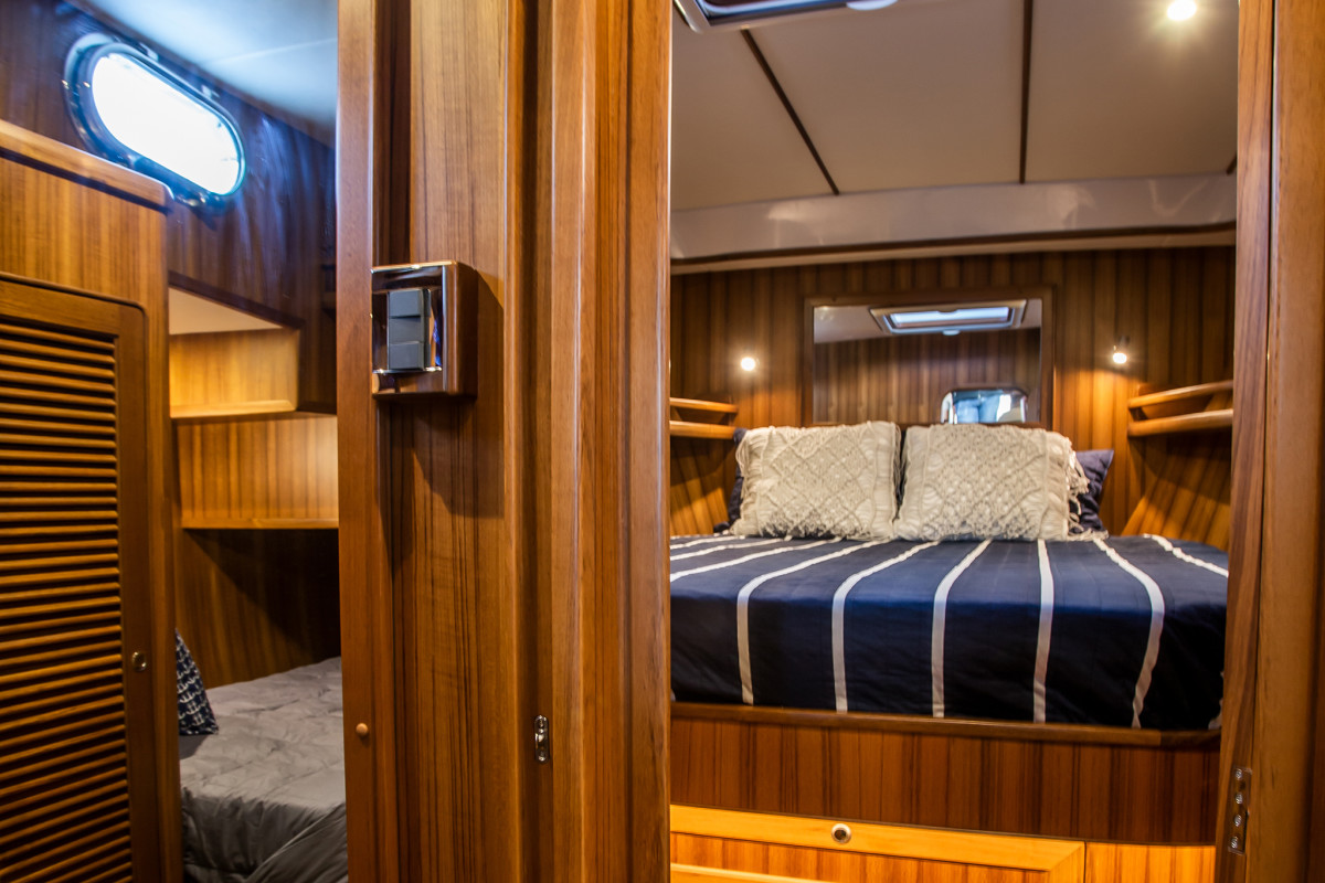 The Helmsman 43E Pilothouse guest accommodations