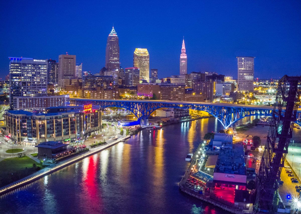 Downtown Cleveland's Cuyahoga River
