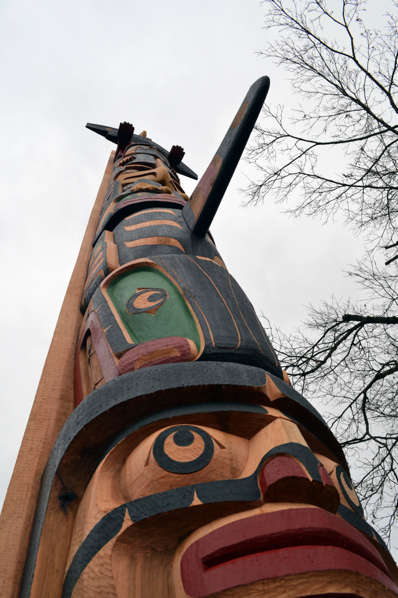 Native american art in Chemainus, BC