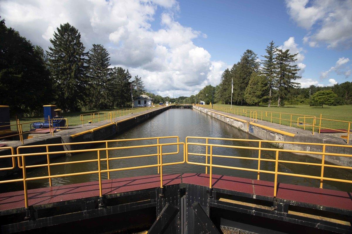 Erie Canal's Palmra, New York, locks