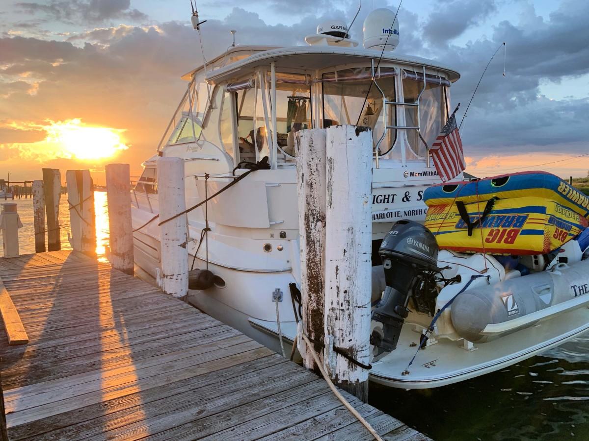 Sunset on Tangier Island Boat-SM
