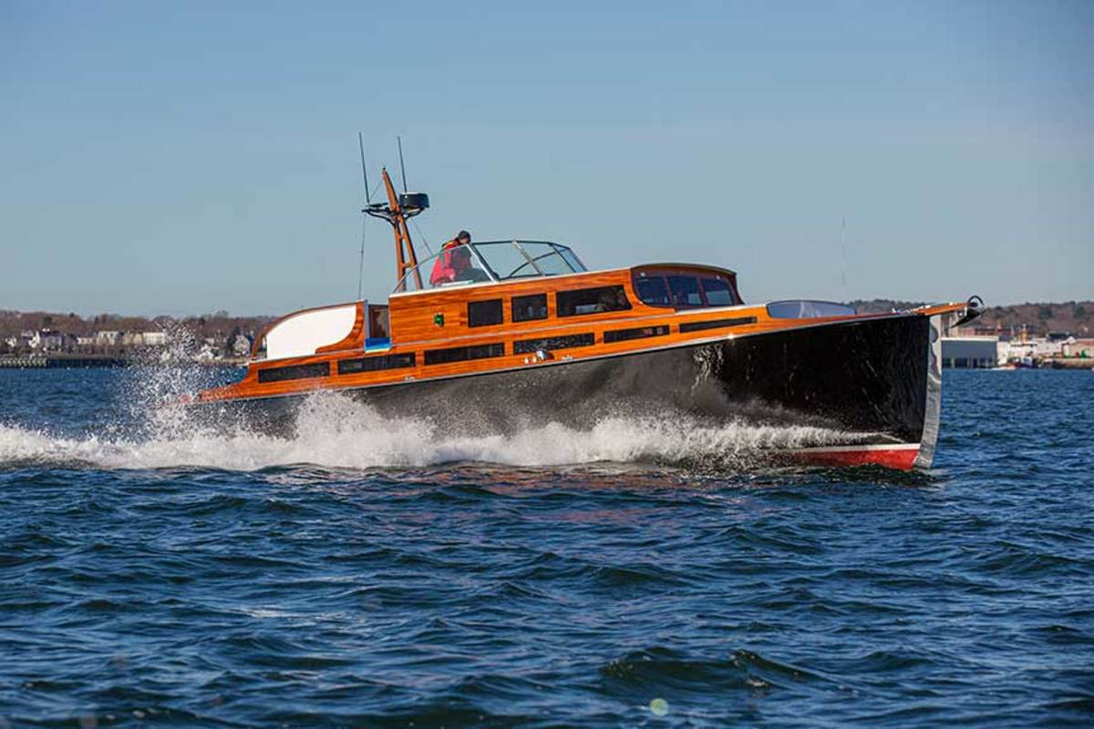 The restored and modified Avocette III combines retro looks with modern performance.