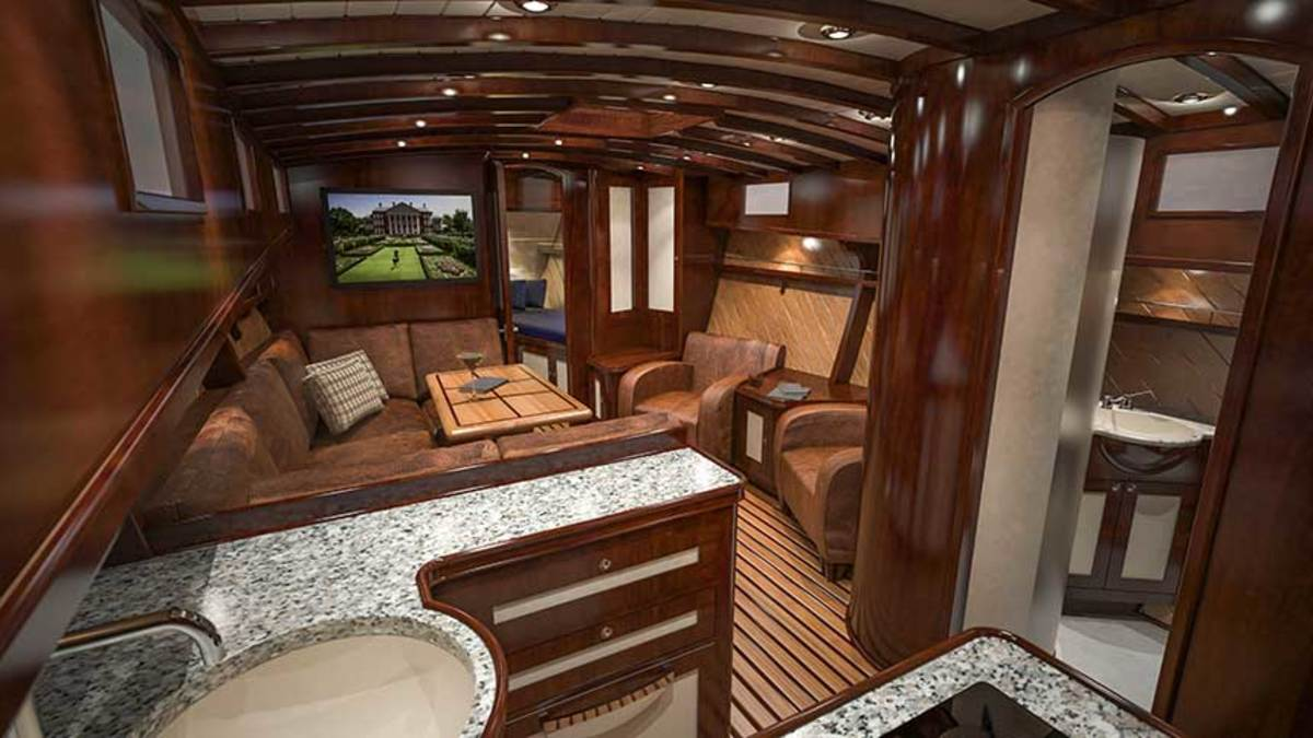 Though the exterior of the Wheeler 38 replica may be hard to distinguish from the original Pilar, even Hemingway would recognize the well-appointed interior as a clear upgrade.
