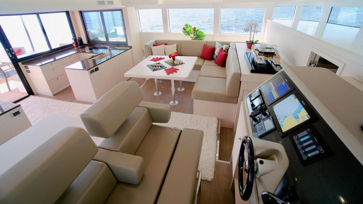 interior of silent yachts 55