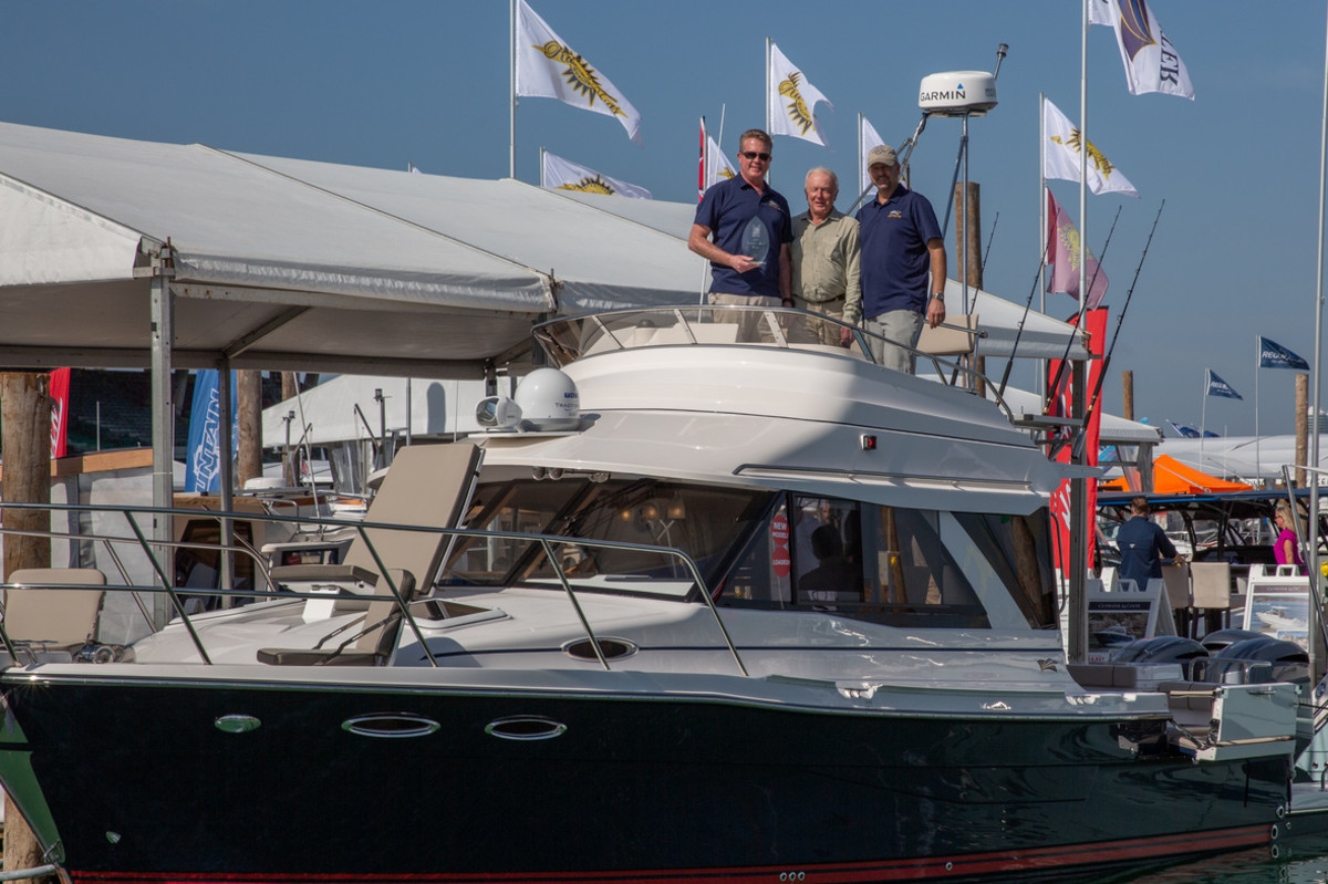 Cutwater Boats founders and owners John and Dave Livingston and VP, Jeff Messmer