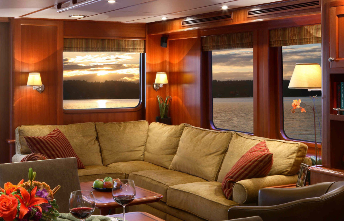 The interior of a Northern Marine 64.