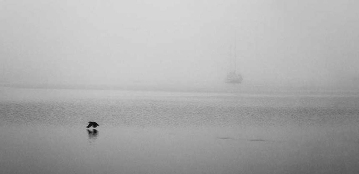 Nantucket fog. Some say that the most difficult thing about navigating Nantucket is finding an open mooring. Our crew found its fog to be a bit more challenging.