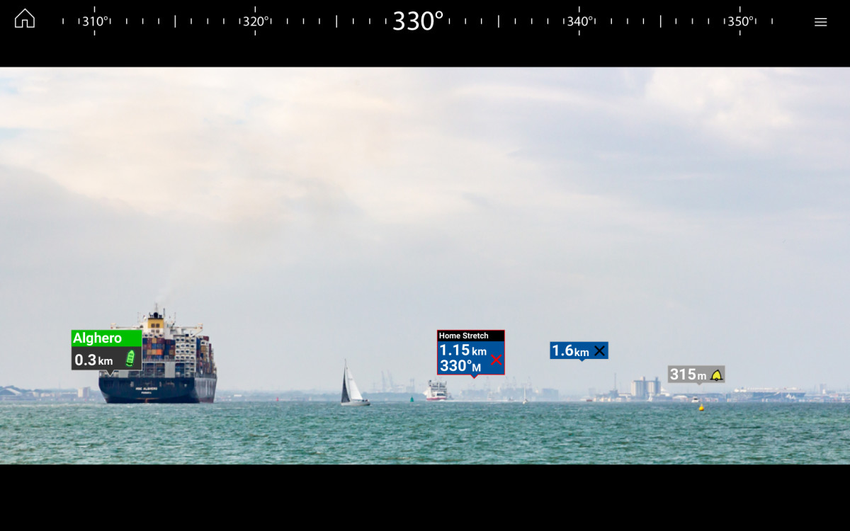 UNDERSTAND COMPLEX NAVIGATIONAL SITUATIONS. Major chart objects are identified for instant, heads-up recognition. ClearCruise AR technology shows you visually where your saved waypoints and marks are located.