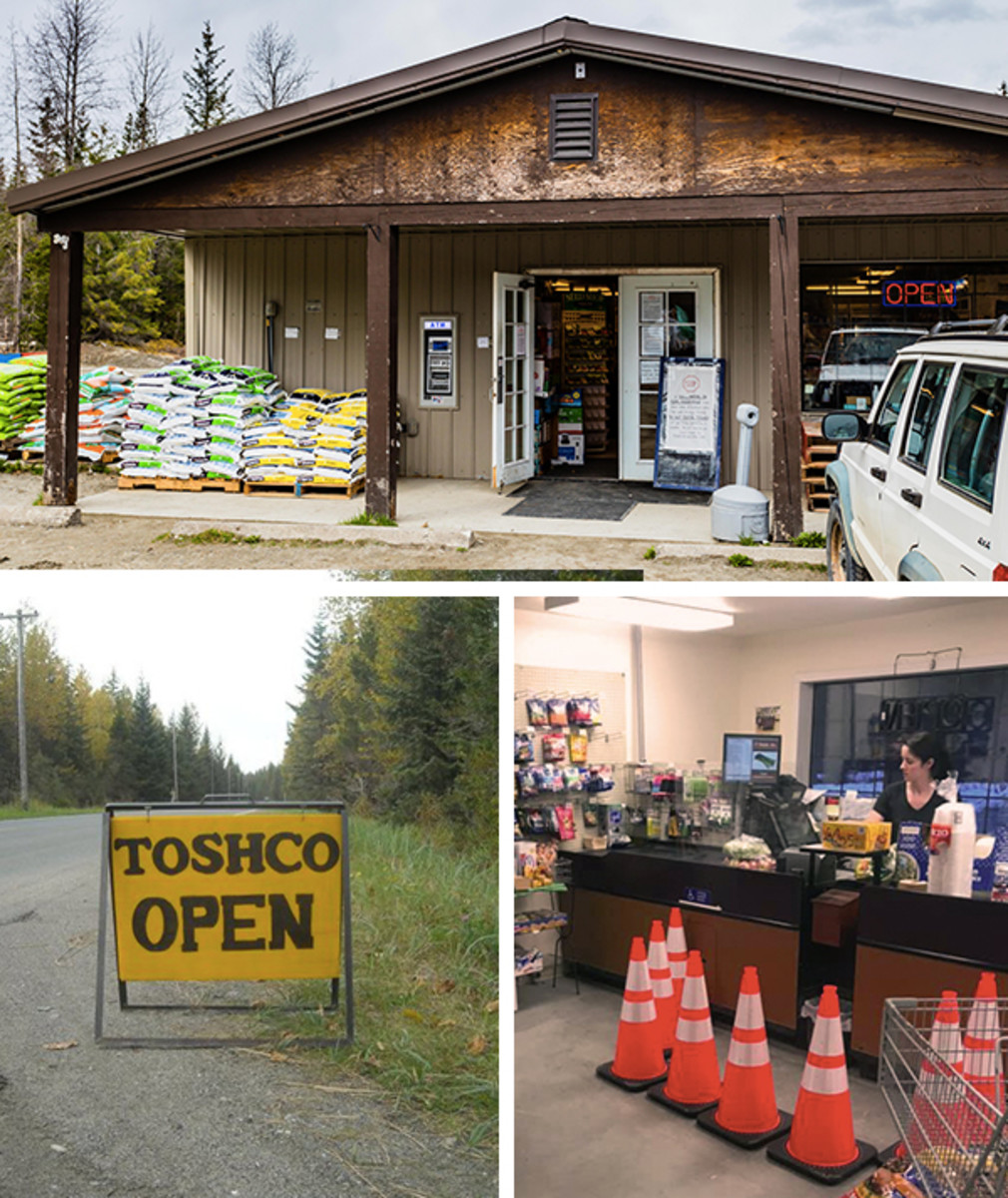 During the health crisis, Toshco has remained in operation, utilizing cones for social distancing (Sean Neilson / Icy Strait Wholesale)