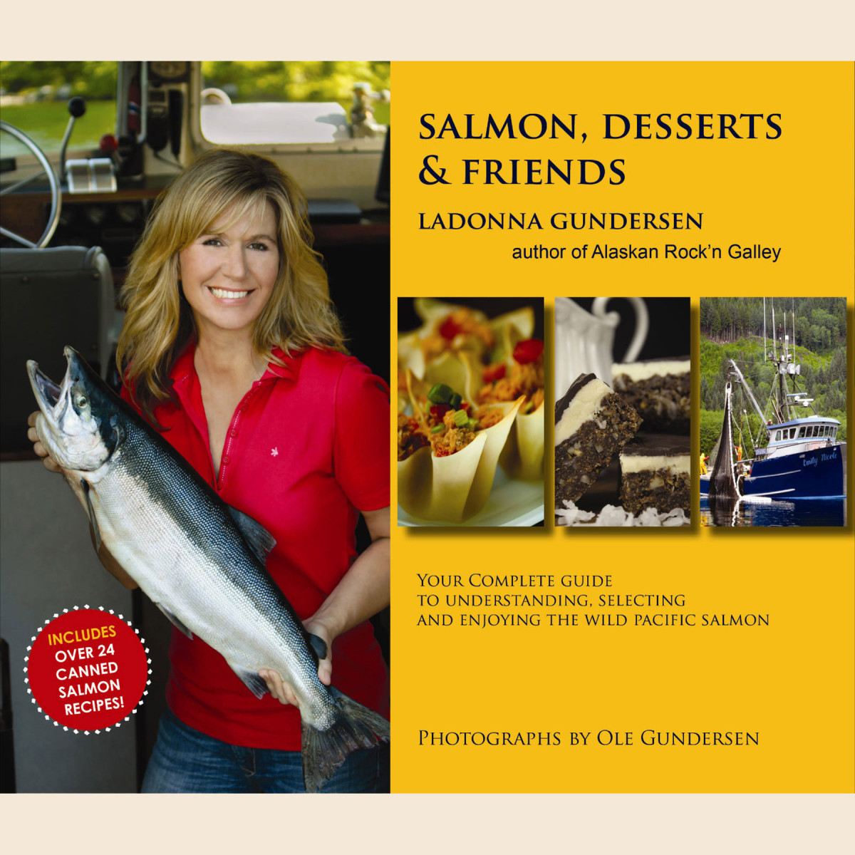 Find this recipe and many others in Gundersen's Salmon, Desserts & Friends cookbook. Available at Amazon, Barnes & Noble, Fine Edge and other stores worldwide.