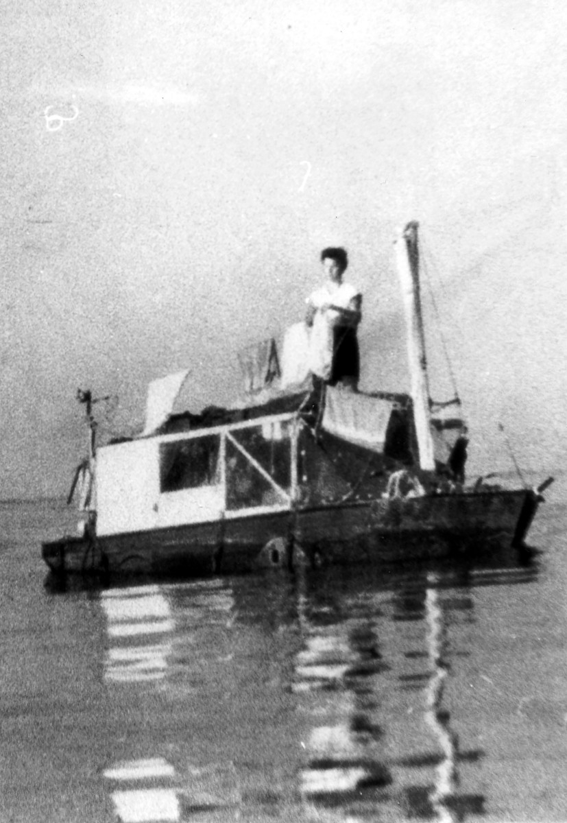 Half-Safe, a converted wartime-built amphibious craft, shockingly made a successful crossing, even with her seemingly low freeboard.