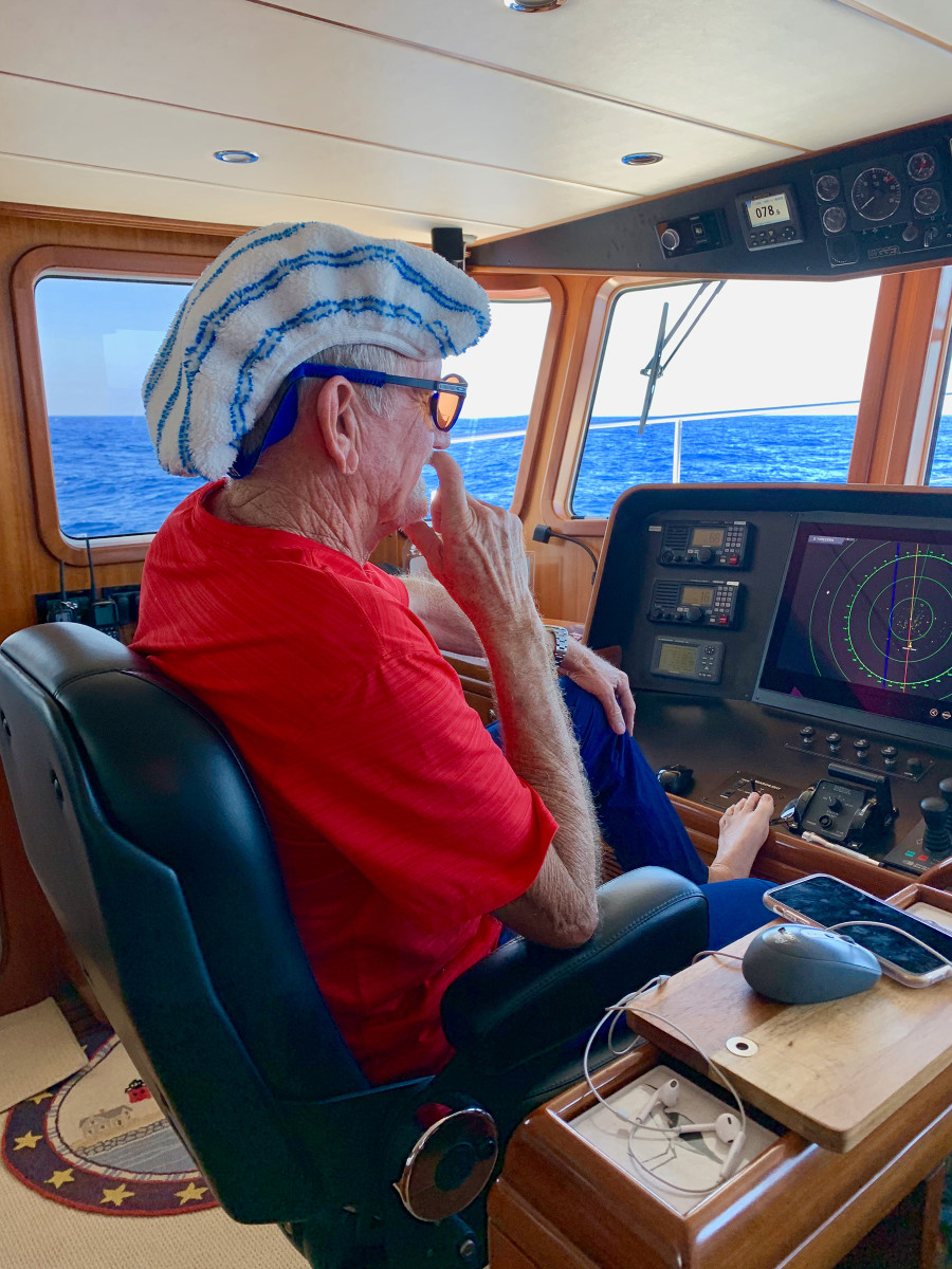 Michael Hastings gives comic relief on watch during the Bermuda to Horta passage