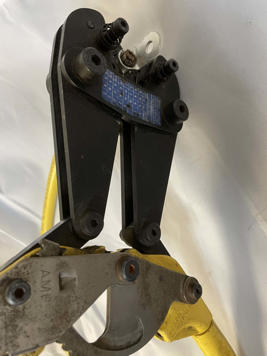 Ratcheting box crimpers reliably crimp cable gauges from 8-gauge to 4/0. Remember to slide on a piece of heat-shrink before making the crimp.