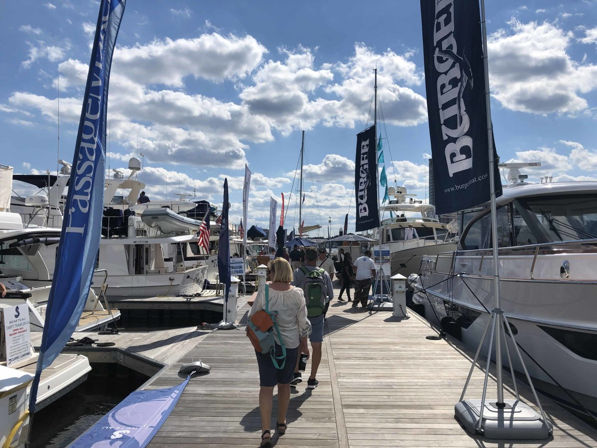 The Trawlerfest in-water boat show at Harbor East Marina