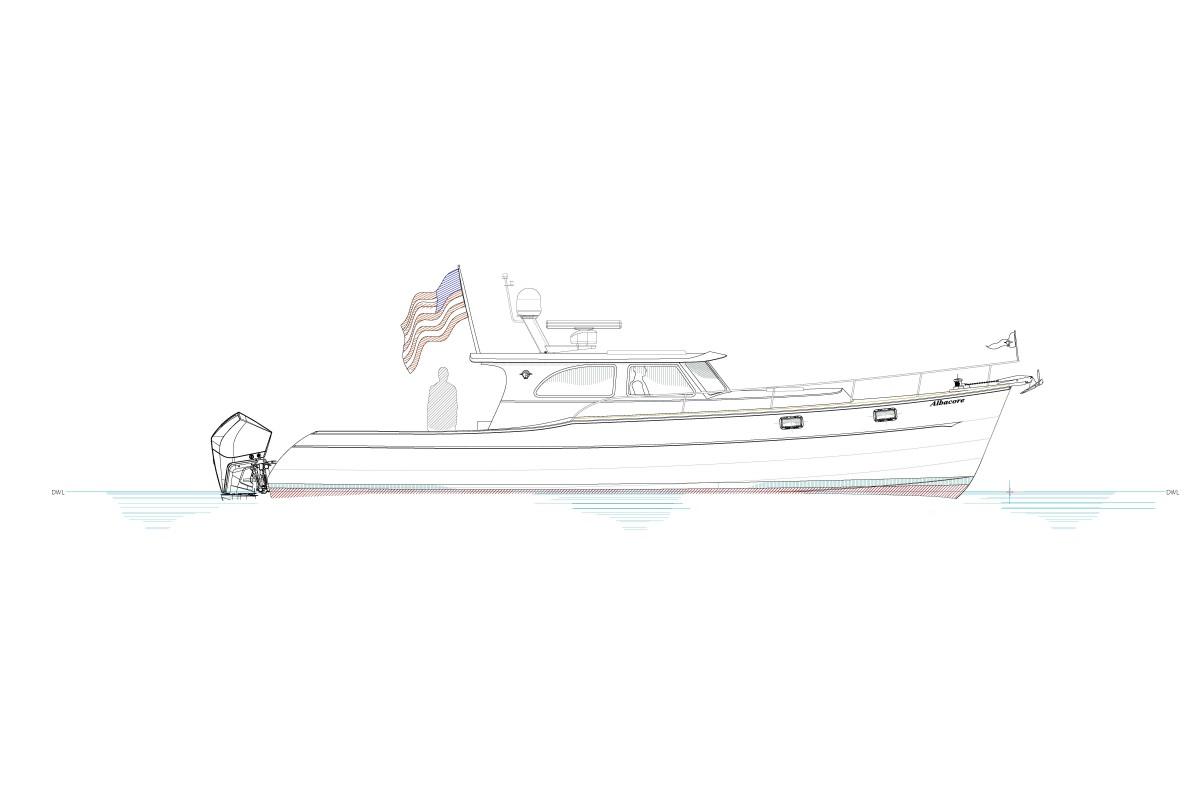 The Devlin-designed Albacore 40 concept