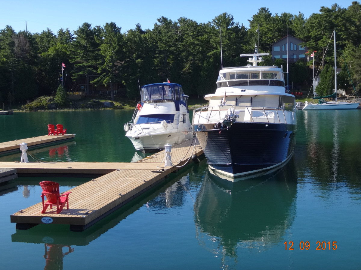 Blue Rosy V enjoys a tranquil moment on Canada's Beausoleil Island.