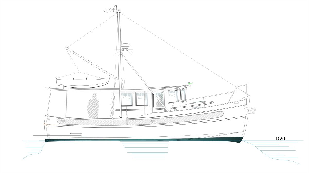 The Kingfisher 28 pictured in a sedan-type configuration.