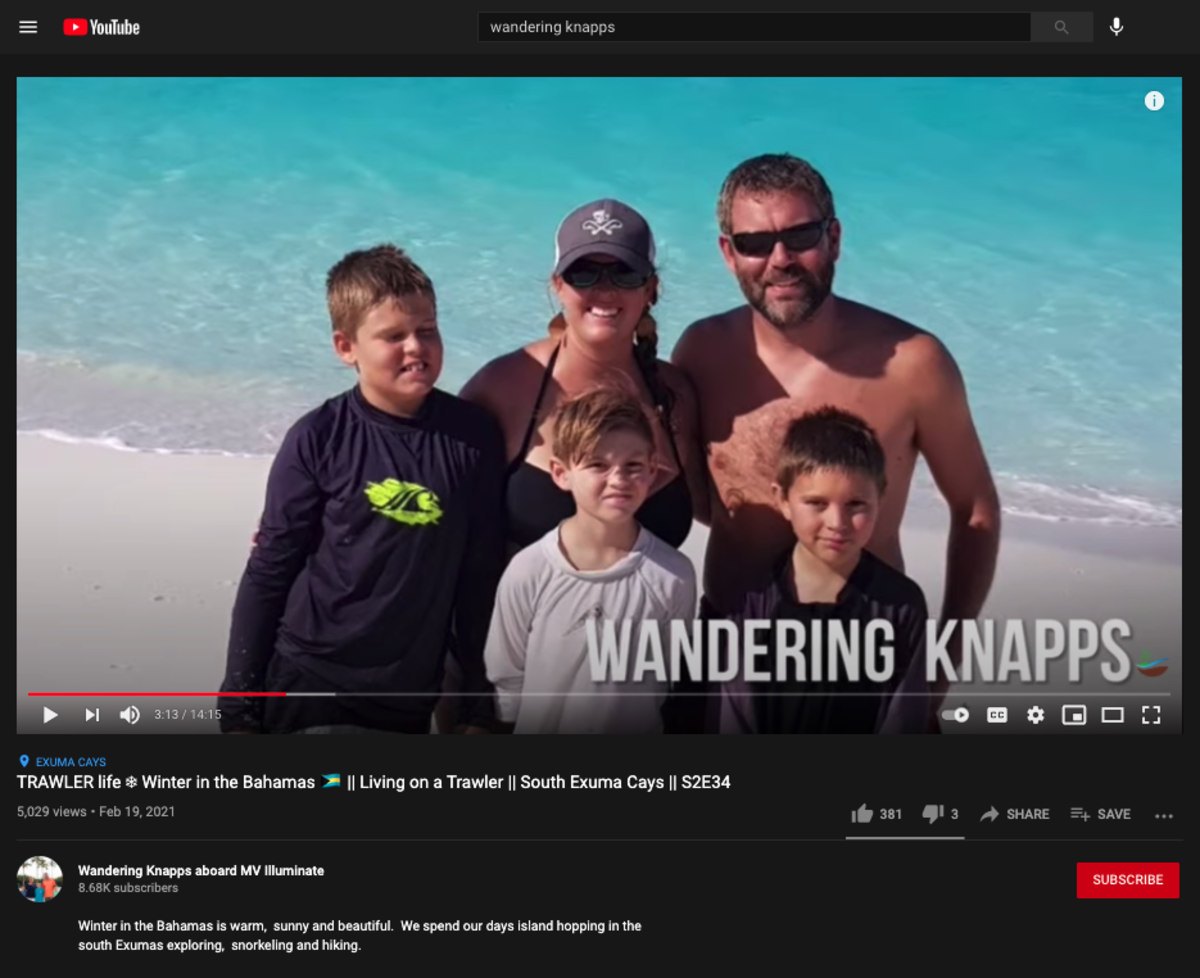Jolene Knapp of The Wandering Knapps started posting videos two and a half years ago. So far, she has uploaded about 200 videos.