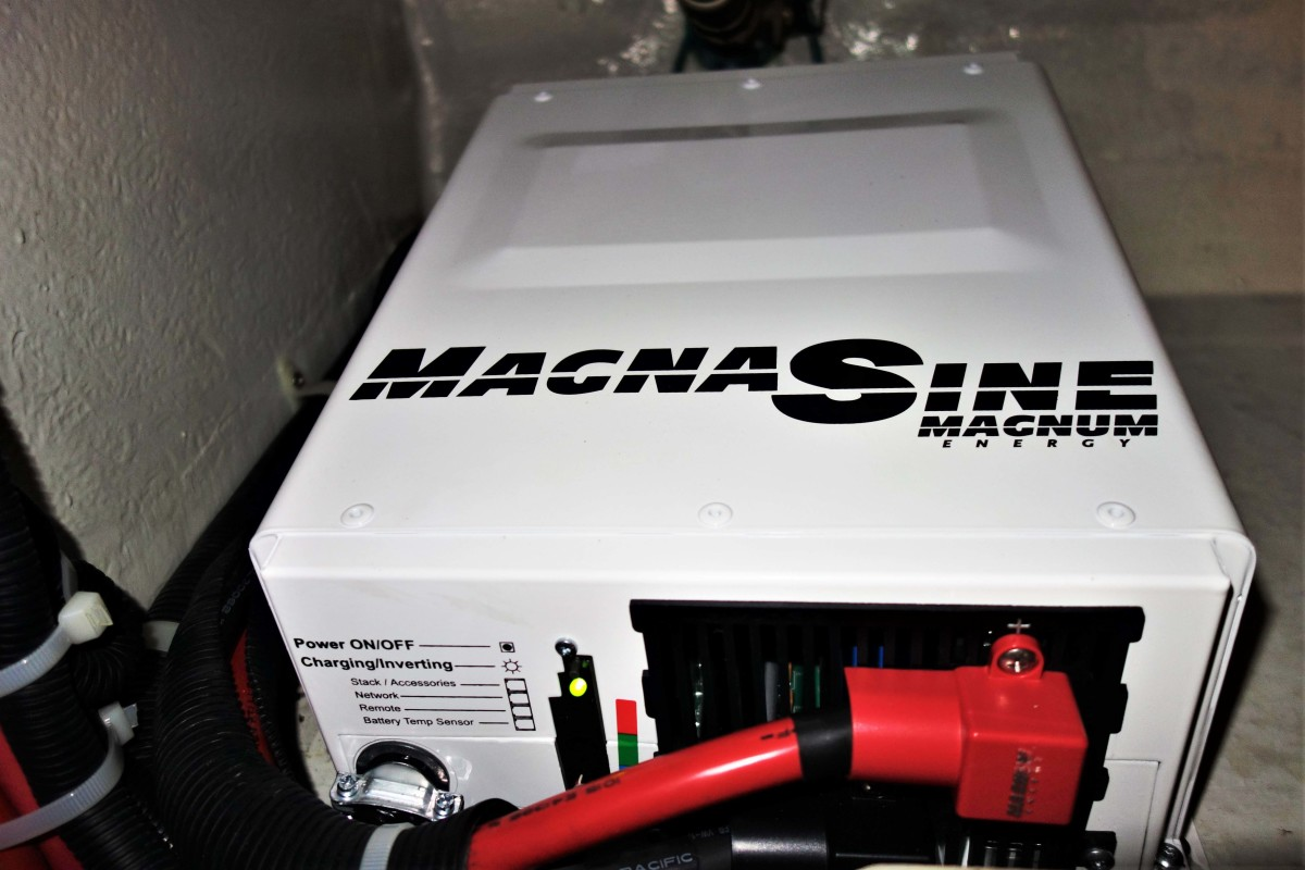 Inverter/chargers must be securely installed. Each manufacturer will detail the permissible orientation to properly dissipate heat generated by the unit. ABYC safe standards dictate their proximity to batteries and wiring.