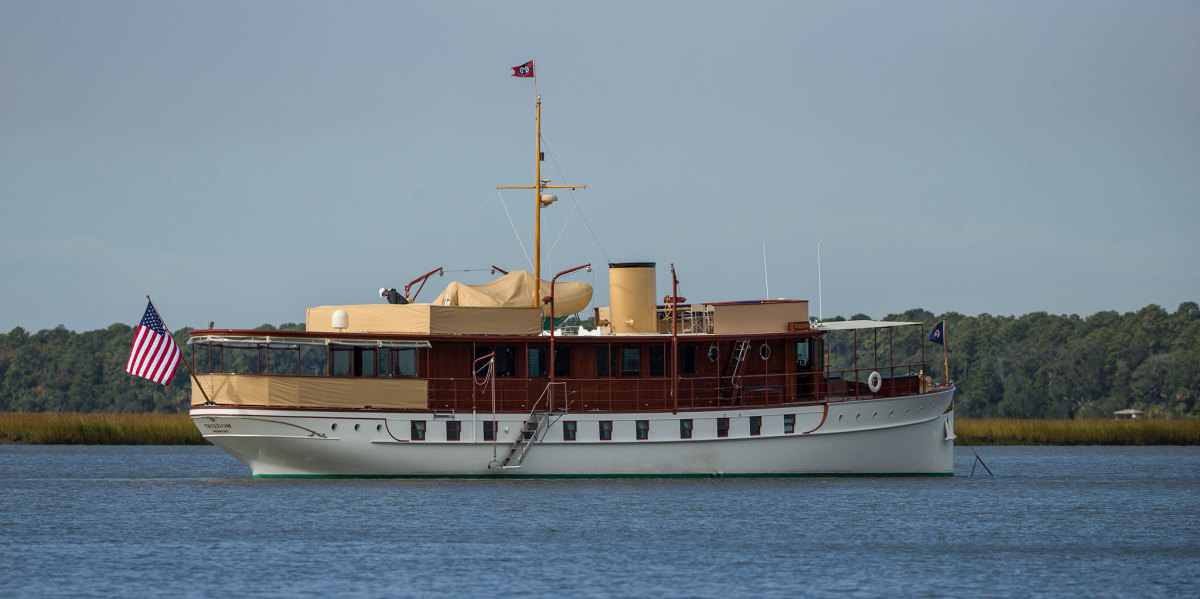 Embodying the essence of 1920s design, the restored Freedom remains one of America's great historic yachts.