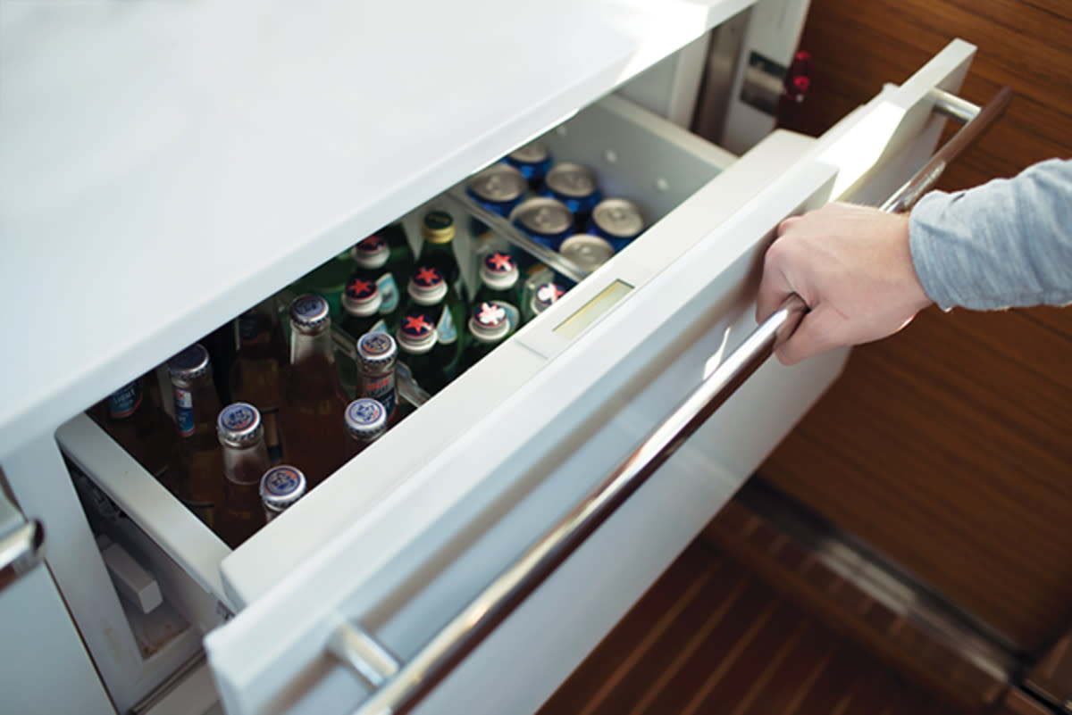 High-quality refrigerator drawers have top-shelf compressors and use fewer amps to keep things cold.